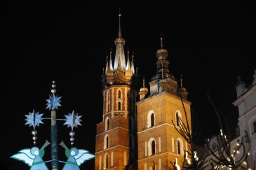 Maria Church at a winter night.