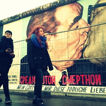 """""""The Kiss of Death"""" - East Side Gallery."""