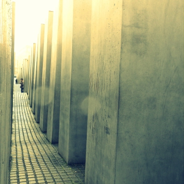 Holocaust memorial. Makes you feel alone, paranoid and lost.