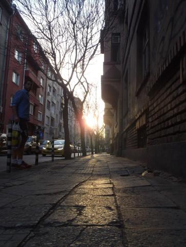 Solnedgang i Sofia.