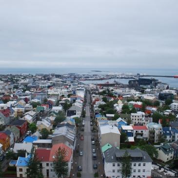 View from Hallgrimskirkja. Photo: Siso Castro Larsen.