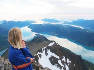 Utsikt fra Helgelandsbukken. Foto: Sofie J. Vibe