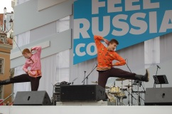 Some Russian propaganda (?) in the Old Town Square - but very good entertaining!