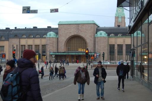 Jernbanestasjonen.