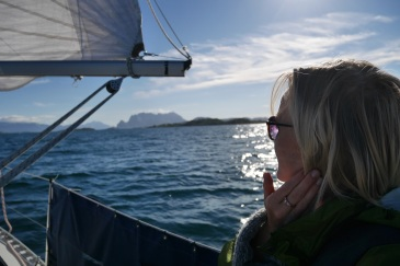 Sailing from Bodø to Ørnes.