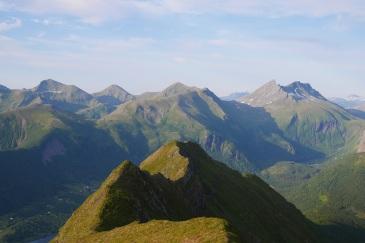 View from Østentinden.