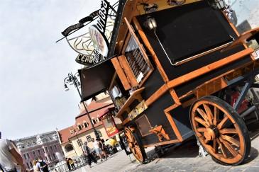 Pannekake-vogn på markedet.