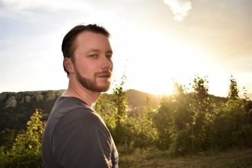 Michael i solnedgang!